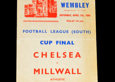War Cup Final (South) Chelsea v Millwall 07.04.1945