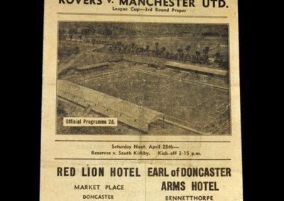 Doncaster Roves v Man Utd 21.04.1945