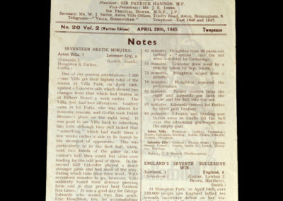 Aston Villa v Stoke 28.04.1945