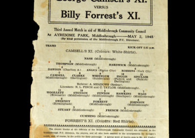 Camsell XI v Forrest XI 02.05.1945