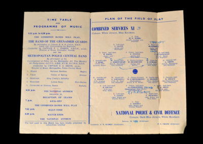 Combined Services v Police & Civil Defence 09.05.1945