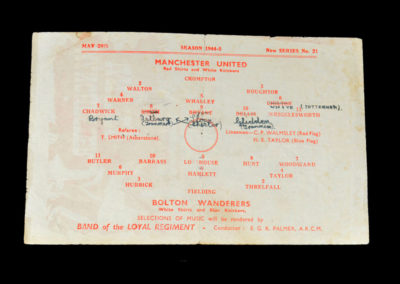 North Cup Final - Man Utd v Bolton 26.05.1945 2nd leg. 2-2. last minute equaliser wins cup for Boltoniser