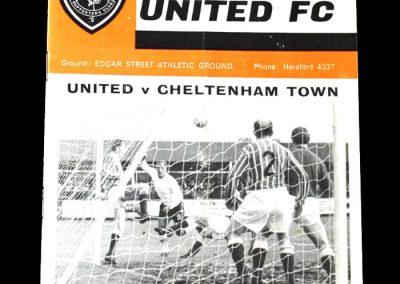Hereford v Cheltenham 06.11.1971 - Cheltenham at home in the qualifying round 3-0 a quiet start in November