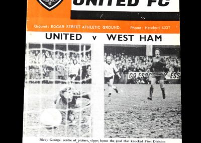 Hereford v West Ham - 4th Round 0-0 Draw - Ron Greenwood reckoned the Hammers were lucky to be still in the competition, holding out for a draw