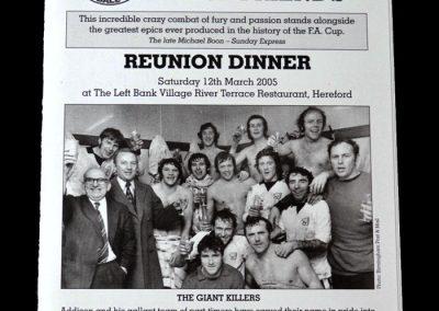 Hereford Reunion Dinner - 2005