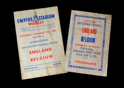 England v Belgium 19.01.1946