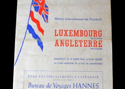 Luxemburg v England 31.03.1946
