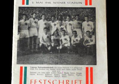 Hungary v Austria 02.05.1948