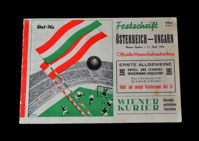 Hungary v Austria 11.04.1954