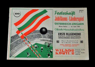 Hungary v Austria 24.04.1955 2-2