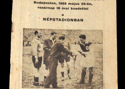 Hungary v Scotland 29.05.1955 3-1