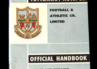 Spurs Pre-Season Handbook 1960/61