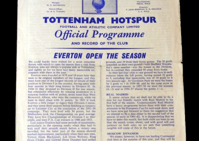 Spurs v Everton 20.08.1960