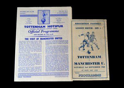 Spurs v Man Utd 03.09.1960