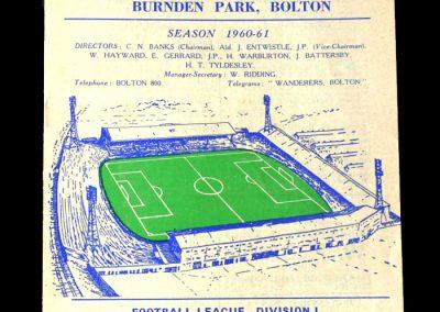 Bolton v Spurs 07.09.1960