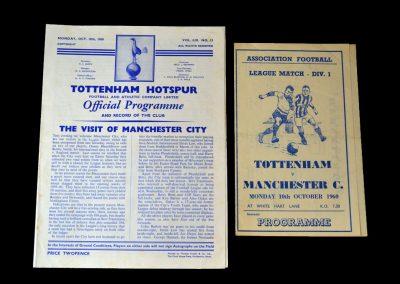 Spurs v Man City 10.10.1960