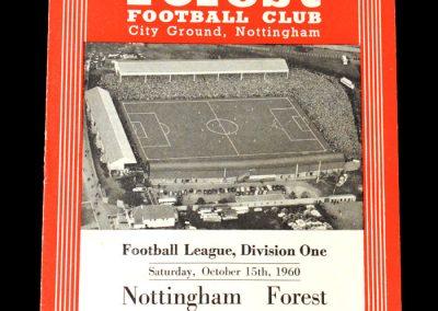 Nottingham Forrest v Spurs 15.10.1960