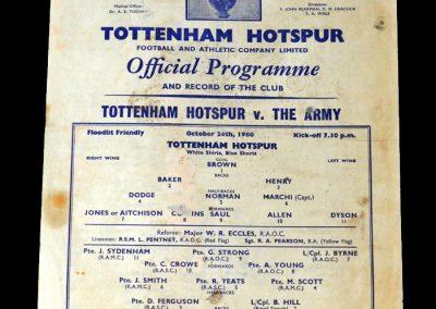 Spurs v Army 24.10.1960