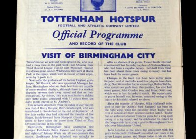 Spurs v Birmingham 19.11.1960