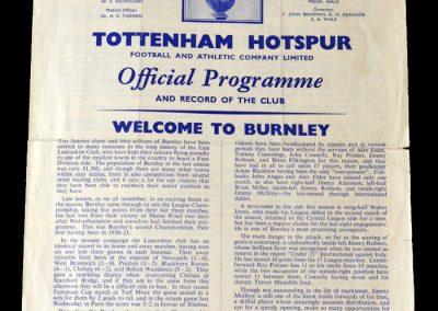 Spurs v Burnley 03.12.1960