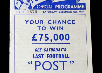 Preston North End v Spurs 10.12.1960