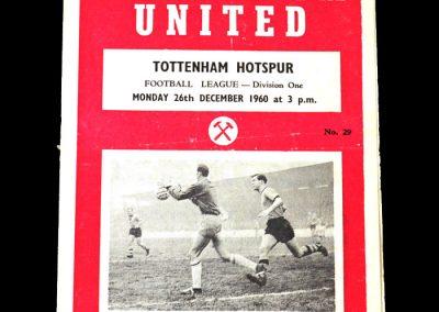 West Ham v Spurs 26.12.1960
