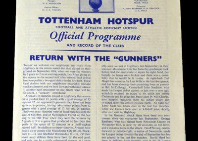 Spurs v Arsenal 21.01.1961