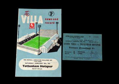 Aston Villa v Spurs 18.02.1961 - FA Cup 5th Round