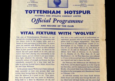Spurs v Wolves 22.02.1961