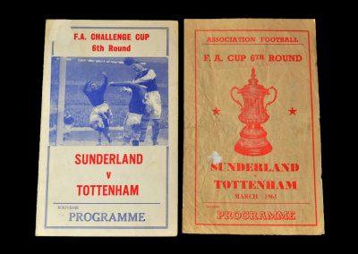 Spurs v Sunderland 08.03.1961 - FA Cup 6th Round