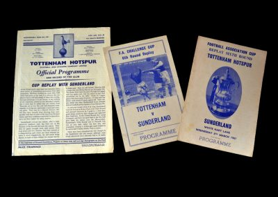 Spurs v Sunderland 08.03.1961 - FA Cup 6th Round Replay