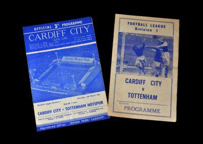 Cardiff v Spurs 11.03.1961