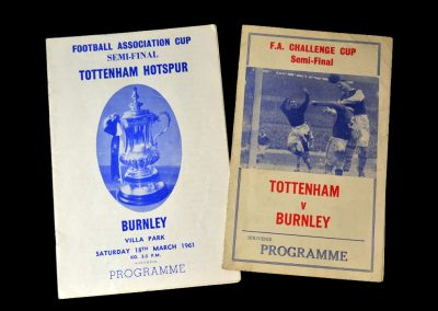 Spurs v Burnley 18.03.1961 - FA Cup Semi Final