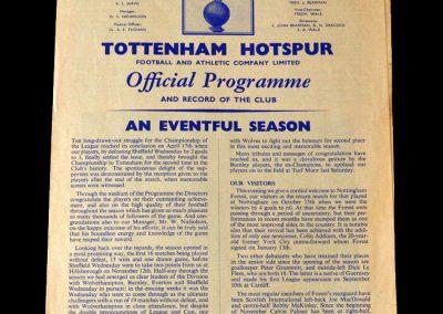Spurs v Nottingham Forest 26.04.1961
