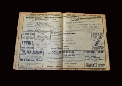 Whites v Stripes 24.01.1910 (Postponed England Trial)