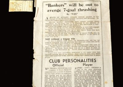 Alf attracts attention [south bank v crook 17.12.49]