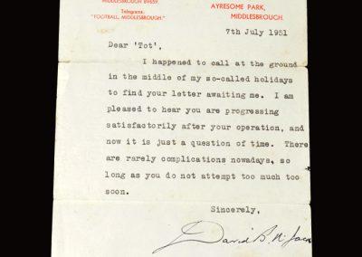 David Jack letter 07.07.1951