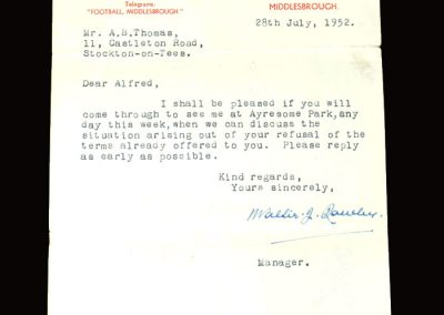 Walter Rowley 28.07.1952 (rejection of terms)