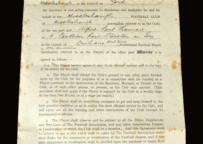 Middlesbrough contract 08.05.1950
