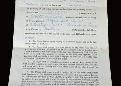 Stockton contract 06.09.1955