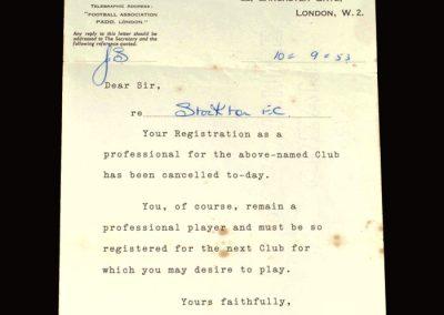 Stockton registration letter 10.09.1953