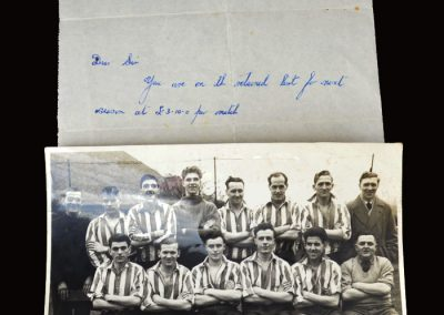 Blackhall Colliery Letter and team photo