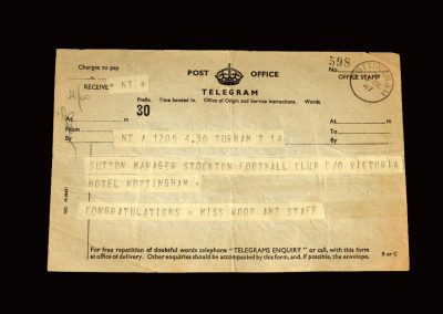 Notts County v Stockton 13.12.1947 - Telegram