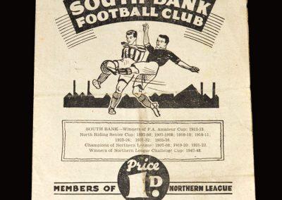 South Bank v West Auckland 08.10.1949
