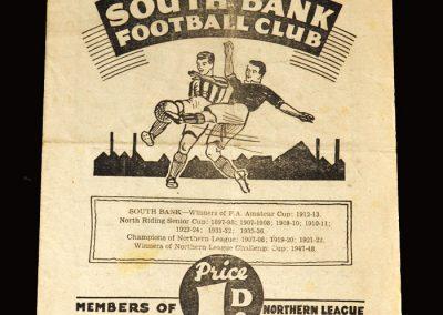 South Bank v Bishop Auckland 14.01.1950