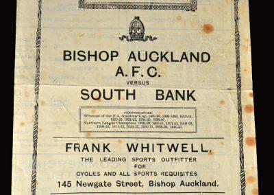 Bishop Auckland v South Bank 04.03.1950