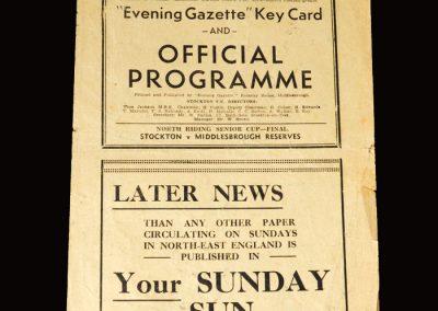 Stockton v Middlesbrough Reserves 26.04.1951 (NRSC Final)