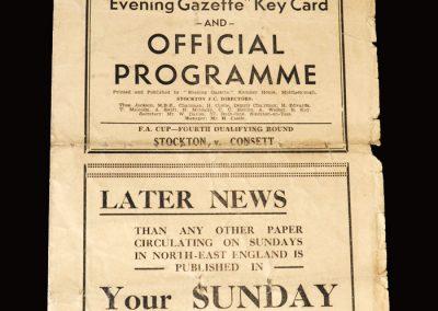 Stockton v Consett 10.11.1951 (FA Cup 4th Qualifying Round)