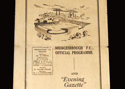 Middlesbrough Res v York City Res 07.03.1953