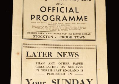 Stockton v Crook 21.03.1953 (Durham Challenge Cup Round 2 Replay)